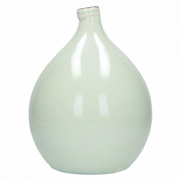 Vaso bianco ceramica Kim H30: vasi design Pomax