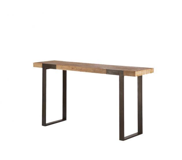 Consolle Kurtis : Consolle in stile industriale in legno massello e ferro