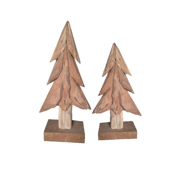 Albero di Natale in legno naturale di teak