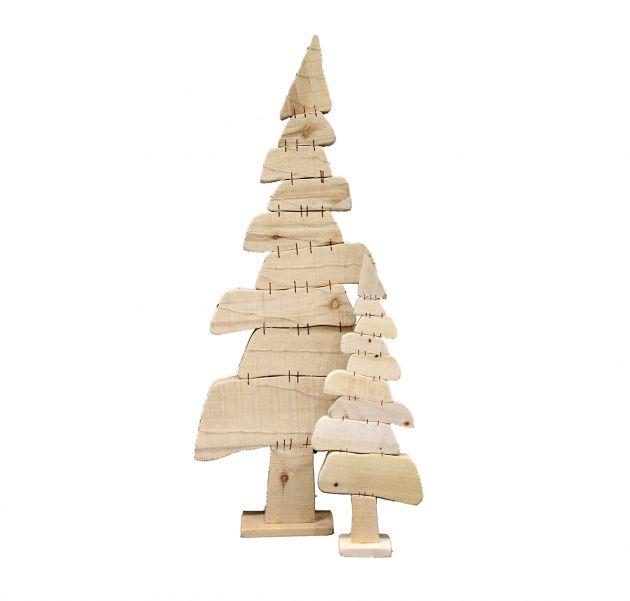 Poplar Albero di Natale in legno naturale