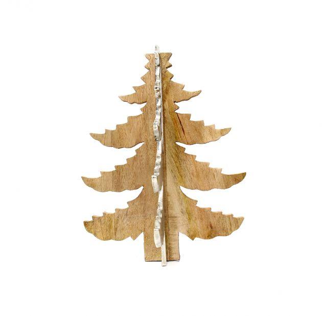 Albero di Natale da tavolo in legno e acciaio