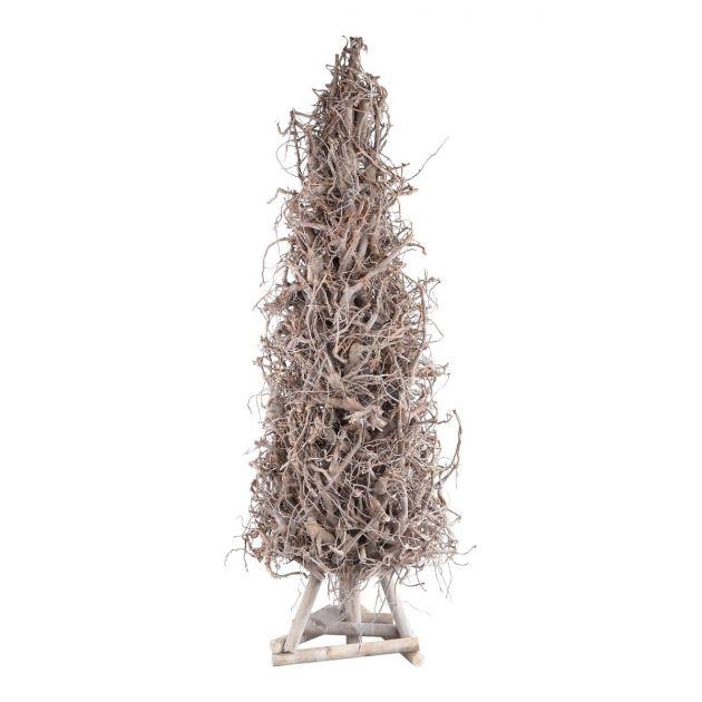 Emile willow : Albero di Natale in legno Naturale con luci Led