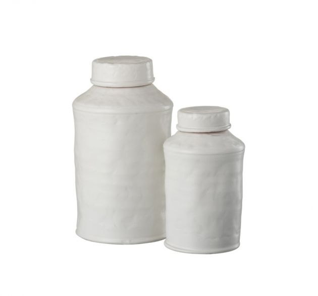 Barattolo di Terracotta Bianco