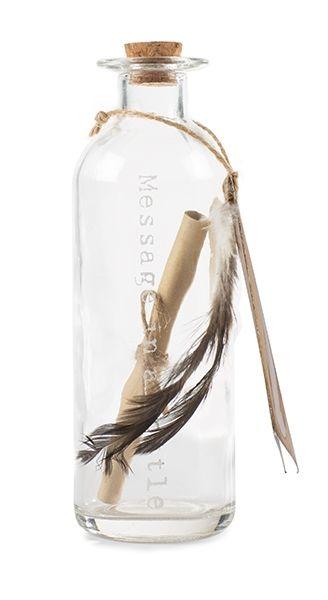 Bottiglia con messaggio H16