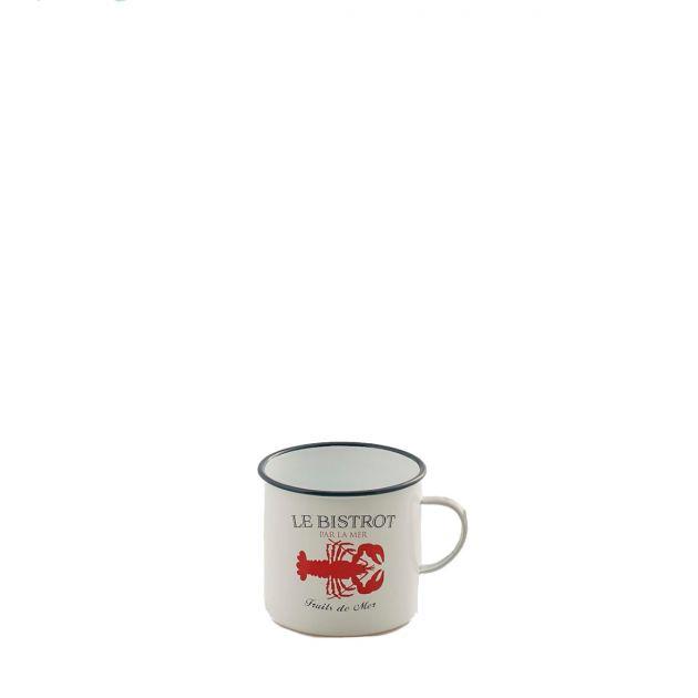 Bricco vintage Aragosta: stoviglie in ferro smaltato o vasi in latta EDG