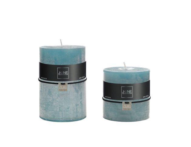 Candele azzurre cilindriche: candele di cera colorate J Line