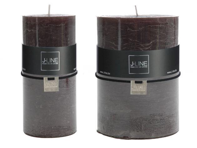 Candele nere cilindriche: candele di cera colorate J Line
