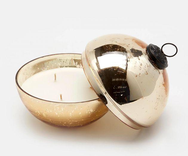 Shiny : Candela in sfera di vetro colore oro D13