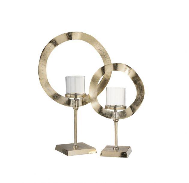 Portacandela Cerchio Oro : Portacandela di design