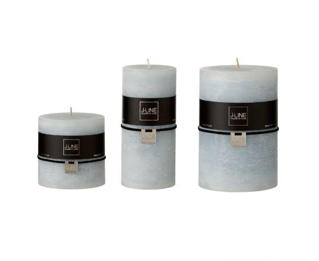 Candela azzurro polvere cilindrica : candele di cera colorate J Line