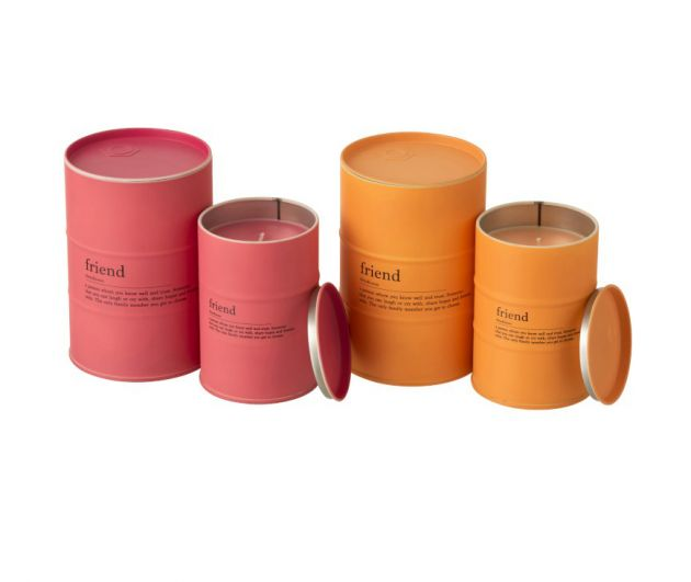 Candele profumate in lattine pink-orange