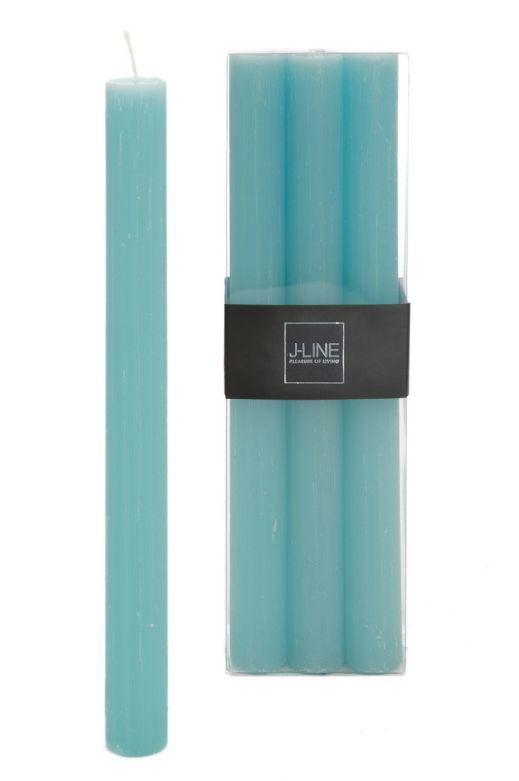 6 Candele azzurre lunghe: candele di cera colorate J Line