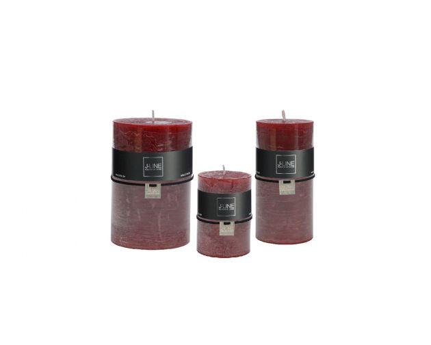 Candela rosso ciliegia cilindrica: candele di cera colorate