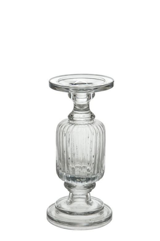 Candeliere Coste H26: portacandele in vetro J Line