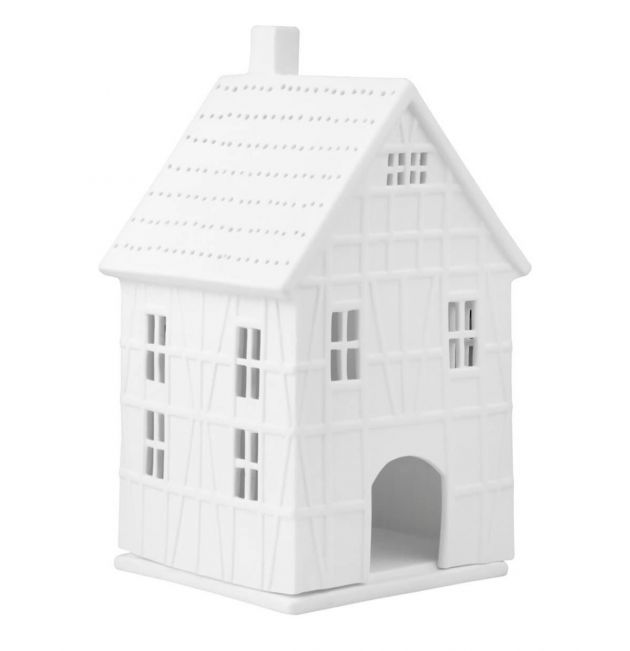 Casa Porta Tealight in ceramica bianca satinata