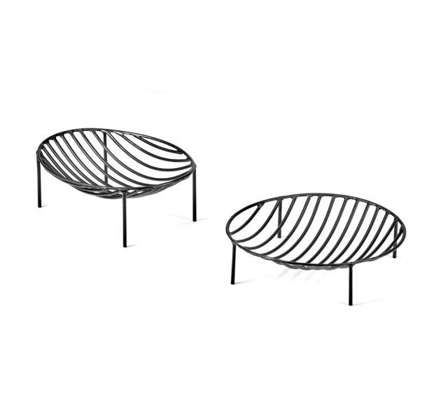 Centrotavola Tondo Nana in metallo nero : Centrotavola di design by Antonino Sciortino