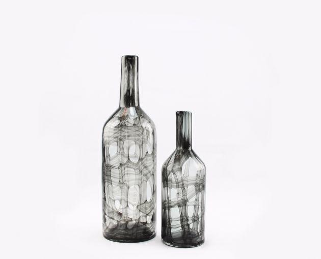 Vaso bottiglia Orfeo:  vasi in vetro trasparenti design Pomax