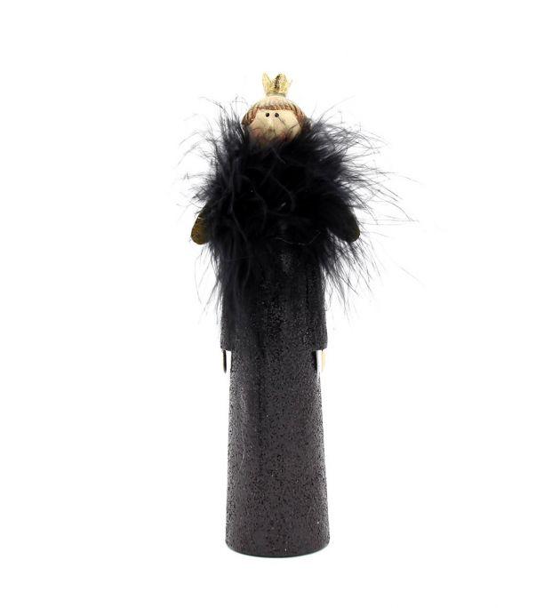 Angelo Uomo Black Dress | Decoro angelo da tavolo