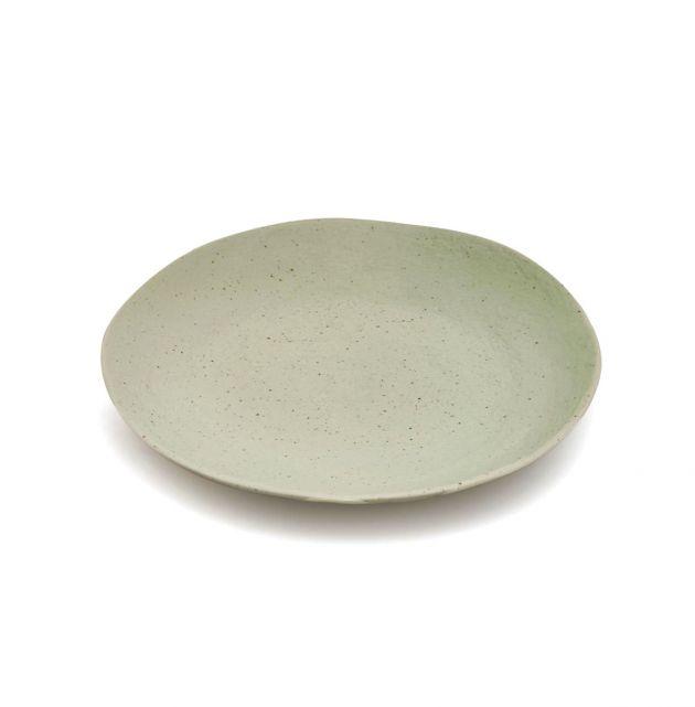FENG - Piatto piano in ceramica gres verde D22