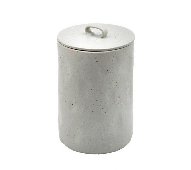 FENG - Barattolo in ceramica gres con coperchio ermetico grigio H20