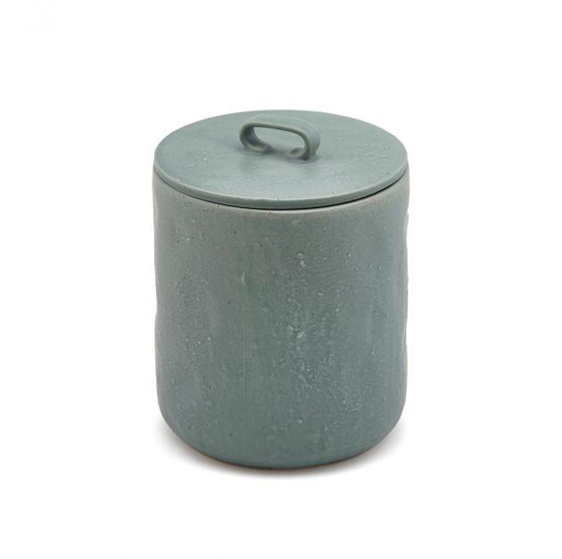 FENG - Barattolo in ceramica gres con coperchio ermetico verde H14