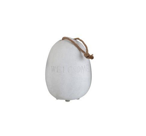 Fermaporte in Cemento con scritta Welcome