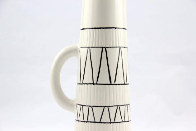 Caraffa Graph: vaso bianco ceramica design Pomax