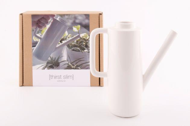 Thirst Slim annaffiatoio design ceramica bianca: attrezzi giardinaggio D&M