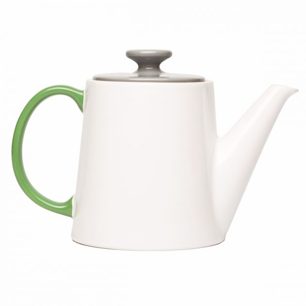 My Tea Pot: teiera bianca-grigia in ceramica Jansen CO