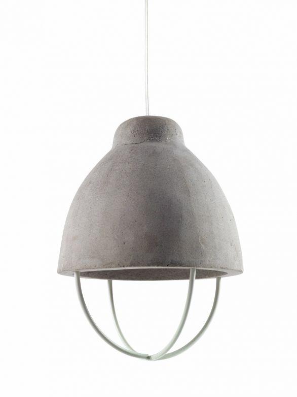 FEELING BETON WHITE: Lampada cemento e ferro bianco Serax design