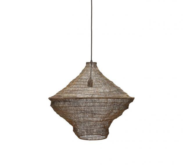 Hyden : Lampada a sospensione in metallo con rete ottone H52