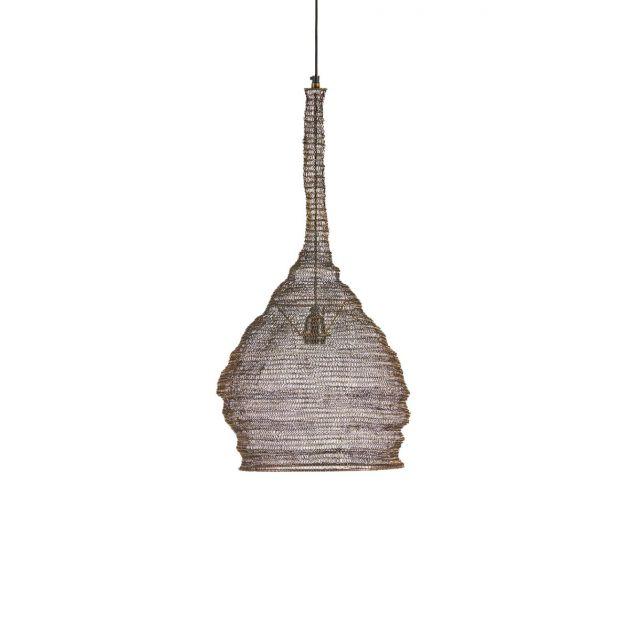 Lampadario a goccia in rete metallo marrone H70
