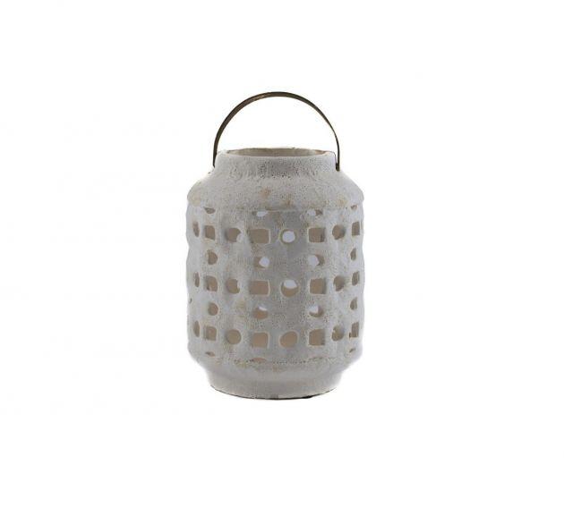 Fenice: lanterne portacandele bianche in cemento EDG