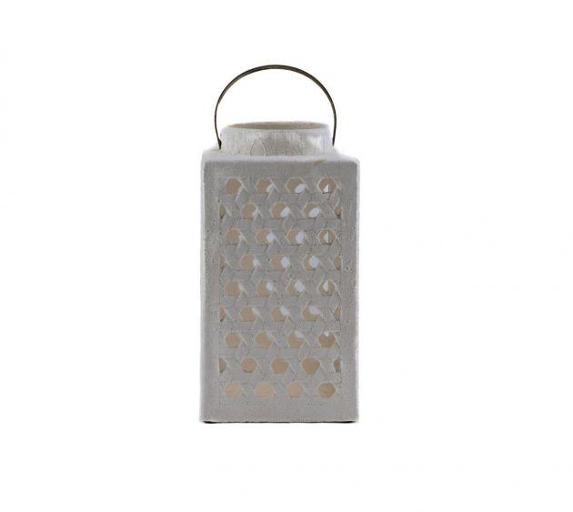 Fenice Square: lanterne portacandele bianche in cemento EDG