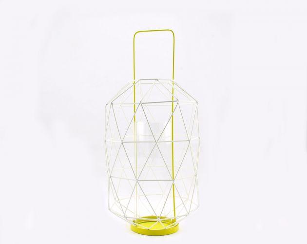 Lanterna Espace Yellow: lanterne grandi in metallo Pomax