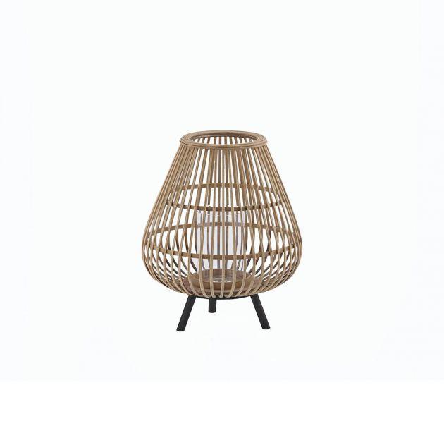 Lanterna in Bambù con piedini in legno H38 EDG