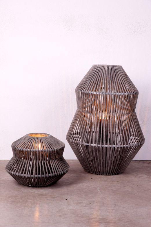 Lanterna Cotone: lanterne grandi in corda e bamboo D&M
