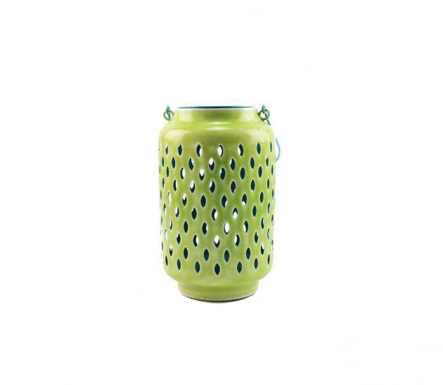 Lanterna Bazar Urbain Green H30: lanterna metallo green Pomax
