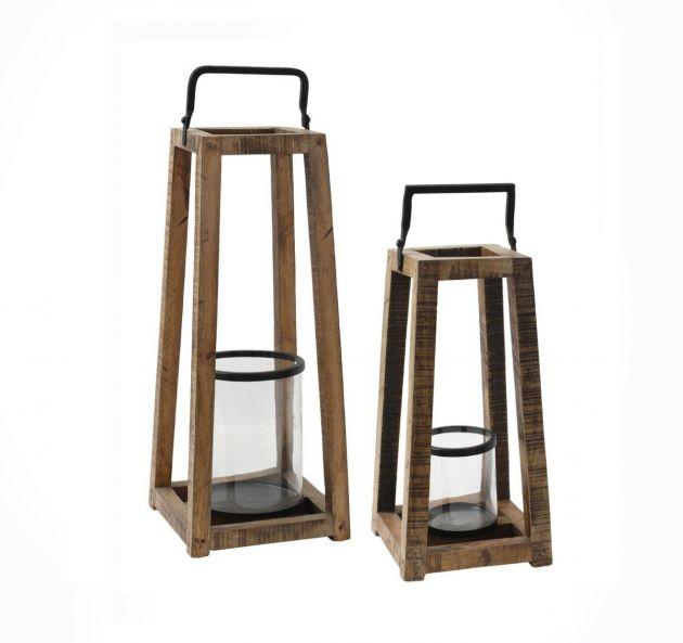 Lanterna Meryl: lanterne grandi in legno massello PTMD
