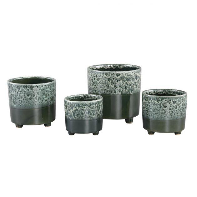 Vaso Leone Blue | Vaso di design con piedini in ceramica