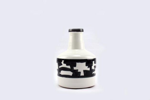 Vaso bianco nero ceramica Madoura: vasi design Pomax