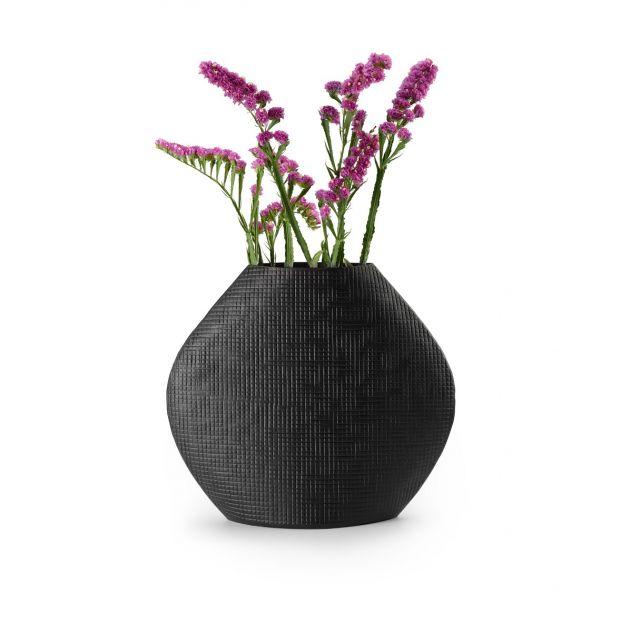 Vaso Outback L | Vasi di design in alluminio nero verniciato a polvere