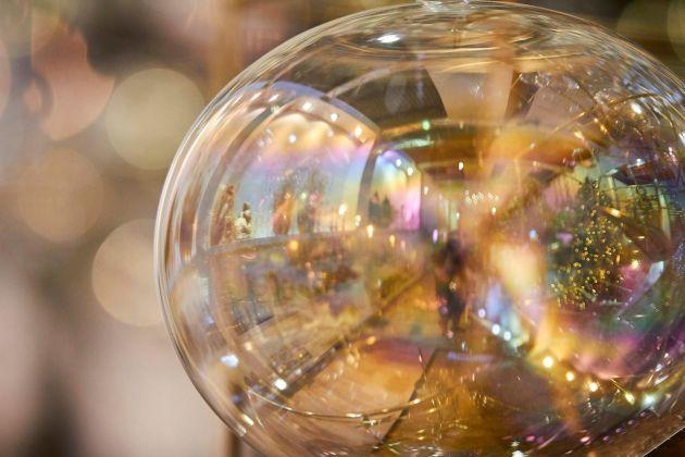Palla Bolla Iride D15 : Palline di Natale in vetro Iridescente