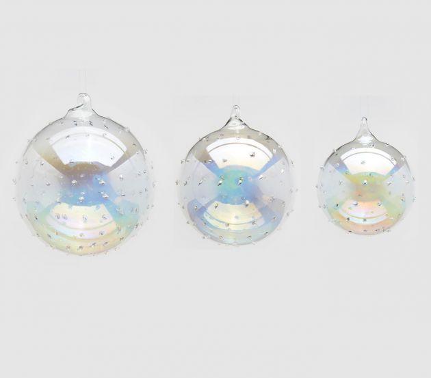 Palla Vetro Mina : Palline di Natale in vetro soffiato