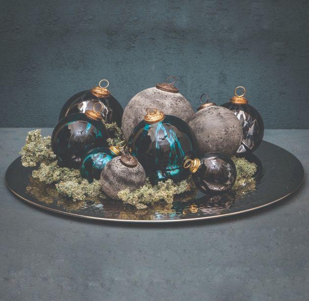 Pallina di Natale Daryl Blue | Palline di Natale in vetro blu