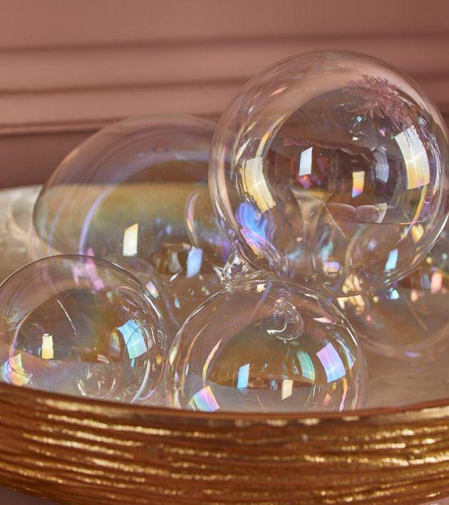 Palla Iride : Palline di Natale in vetro iridescente