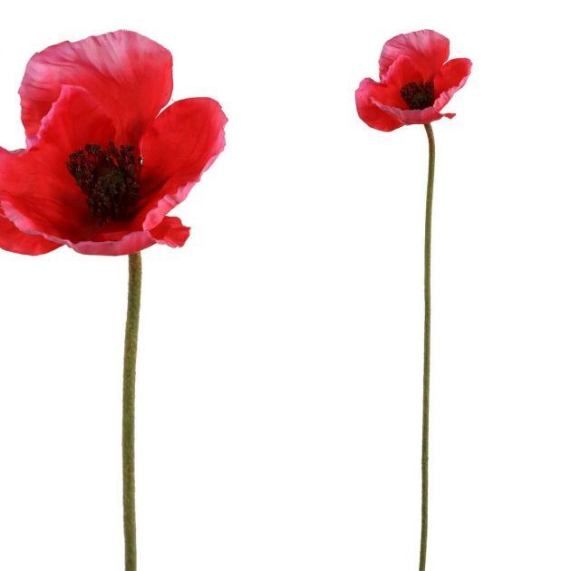 Papavero rosso fiore finto: fiori artificiali di alta qualità