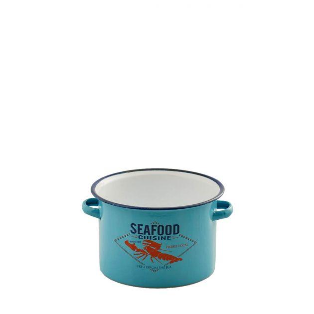 Pentola vintage Aragosta: stoviglie in ferro smaltato o vasi in latta EDG