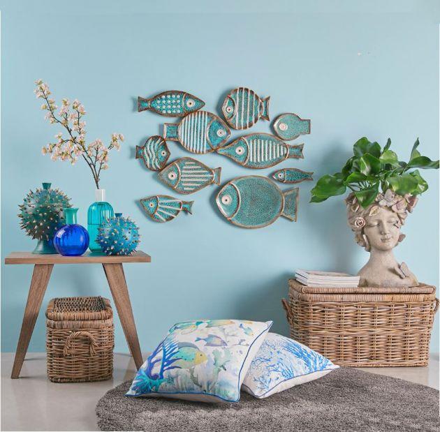 Piatti Pesce decoro parete | Decoro pesce a muro