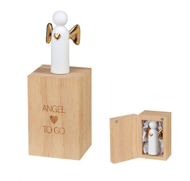 Angelo TO GO con Scatoletta in legno